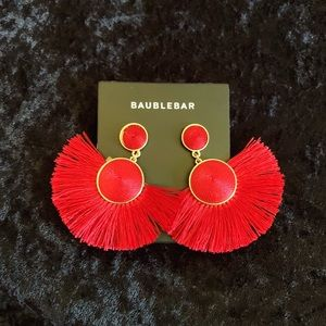 BaubleBar Jewelry - Bauble Bar Dark Red Earrings